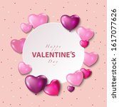 valentines day  vector greeting ... | Shutterstock .eps vector #1617077626