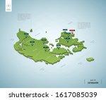 stylized map of denmark.... | Shutterstock .eps vector #1617085039