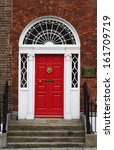 closed door of a house  dublin  ... | Shutterstock . vector #161709719