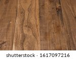 brown wooden table with...   Shutterstock . vector #1617097216