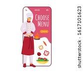 choose menu cartoon smartphone...