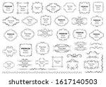 calligraphic design elements .... | Shutterstock .eps vector #1617140503