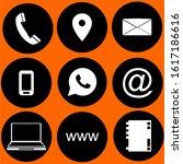 contact us icon vector logo | Shutterstock .eps vector #1617186616