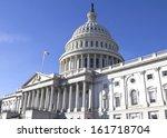 washington dc   capitol... | Shutterstock . vector #161718704