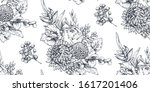 seamless pattern with hand... | Shutterstock .eps vector #1617201406