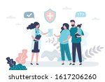 family doctor. pregnant woman... | Shutterstock .eps vector #1617206260