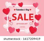 valentine's day super sale... | Shutterstock .eps vector #1617209419