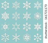 Sixteen White Snowflakes Of...