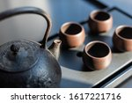 traditional chinese tea set up...   Shutterstock . vector #1617221716