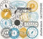 palau set of stamps. travel... | Shutterstock .eps vector #1617252430