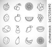 fruit related icons set outline ...   Shutterstock .eps vector #1617253690