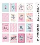 valentine card   valentine... | Shutterstock .eps vector #1617255649