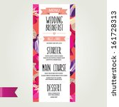 wedding menu  template design... | Shutterstock .eps vector #161728313
