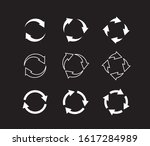 sets of white circle arrows on... | Shutterstock .eps vector #1617284989