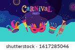 carnival  party  rio carnaval ... | Shutterstock .eps vector #1617285046
