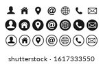 contact us icons. web icon set. ... | Shutterstock .eps vector #1617333550