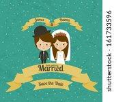 married design over blue... | Shutterstock .eps vector #161733596