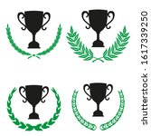 green realistic set of circular ... | Shutterstock .eps vector #1617339250