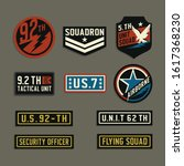 label of military typography ... | Shutterstock .eps vector #1617368230