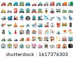 emoji of transport and... | Shutterstock .eps vector #1617376303
