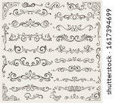 vector set of calligraphic...   Shutterstock .eps vector #1617394699