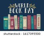 World Book Day. Spine Of Hand...