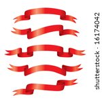 red banners  vector . in the... | Shutterstock .eps vector #16174042
