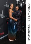 Small photo of New York, NY - January 13, 2020: Bresha Webb and Cicely Tyson attend premiere of Netflix A Fall From Grace at Metrograph
