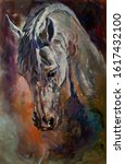 Horse Head Painting Oil On...
