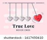 true love never ends. newton's... | Shutterstock .eps vector #1617450610