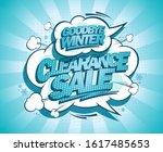 winter clearance sale  goodbye...   Shutterstock .eps vector #1617485653