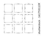 set of vintage frames on white...   Shutterstock . vector #1617531139