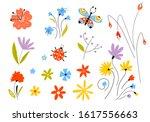 set of vector multicolored... | Shutterstock .eps vector #1617556663