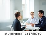portrait of smart business... | Shutterstock . vector #161758760