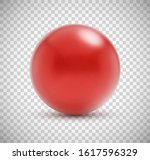red round sphere   3d ball on... | Shutterstock .eps vector #1617596329