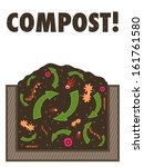 compost organic waste recycling ... | Shutterstock .eps vector #161761580