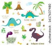 Set Of Cute Dinosaur Characters ...
