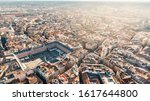 Small photo of Aerial view of Plaza Mayor in Madrid,Spain. Plaza Mayor is a central plaza in the city of Madrid. Beautiful sunny day in city,architecture and landmark of Madrid. Center of capital of Spain