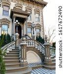 Small photo of Sacramento, CA - January 11, 2020: Close up of Leland mansion historic Park in downtown Sacramento.