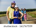 young man and young woman... | Shutterstock . vector #161767559