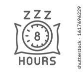 8 hours sleep line icon....
