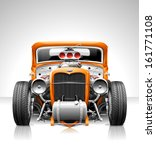 Vector Hot Rod - stock vector