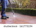 high pressure cleaner  terrace   Shutterstock . vector #161773154
