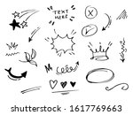 vector hand drawn collection of ... | Shutterstock .eps vector #1617769663