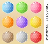 hexagon many styles in...