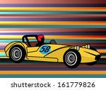 retro style sport car abstract  ... | Shutterstock .eps vector #161779826