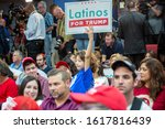 Small photo of Kissimmee, Florida/USA - January 16, 2020: Latinos for Trump Event with Vice President Mike Pence and Second Lady Karen Pence at Nacion de Fe. Peoples support Trump and Pence.