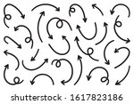 hand drawn arrow vector icons... | Shutterstock .eps vector #1617823186