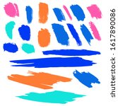 set of hand drawn colorful...   Shutterstock . vector #1617890086