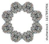 floral frame. template for... | Shutterstock . vector #1617892906